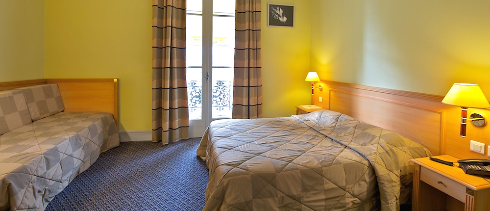 Chambre double Hôtel le Bourbon Pau